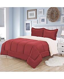 Sherpa 3-Pc. King Comforter Set
