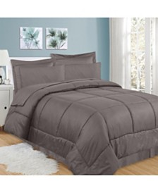 Sweet Home Collection Greek Key 8-Pc. Queen Comforter Set