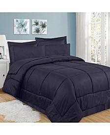 Greek Key 8-Pc. Queen Comforter Set