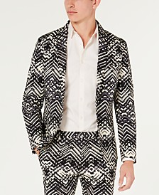 I.N.C. Men's Slim-Fit Stretch Abstract Suit Jacket, Created for Macy's