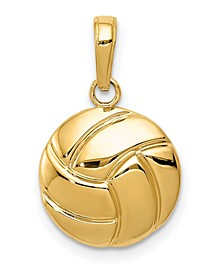 Volleyball Pendant in 14k Yellow Gold