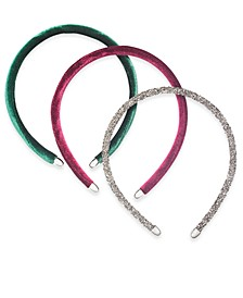 INC 3-Pc. Silver-Tone  Multicolor Headband Set, Created For Macy's