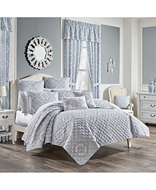 Claremont Blue Full/Queen 3pc. Quilt Set