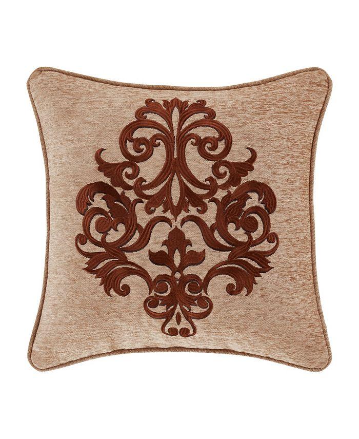 "J Queen New York - Luciana   Indigo Indigo 18"" Square Embellished Decorative Throw Pillow"