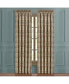 "Victoria   Turquoise Turquoise 84"" Window Panel Pair"