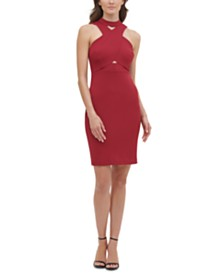 GUESS Crisscross & Cutout Dress