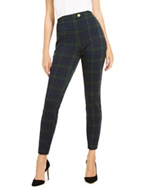 I.N.C. Plaid Skinny Pants, Created For Macy's