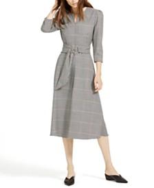 Marella Amadeus Plaid Midi Dress