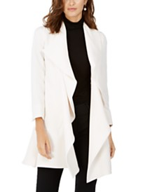 Anne Klein Cascade-Collar Topper Jacket