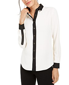Contrast-Trim Shirt