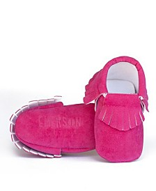 Emerson and Friends Baby Girl Fringe Moccasins