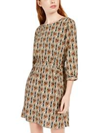 Be Bop Juniors' Belted Printed Dress