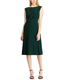 Lauren Ralph Lauren Pleated Jersey Dress