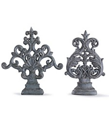 Cleobury Blue Traditional Ornamental Accessory Set of Two Accessory