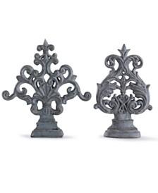 StyleCraft Cleobury Blue Traditional Ornamental Accessory Set of Two Accessory