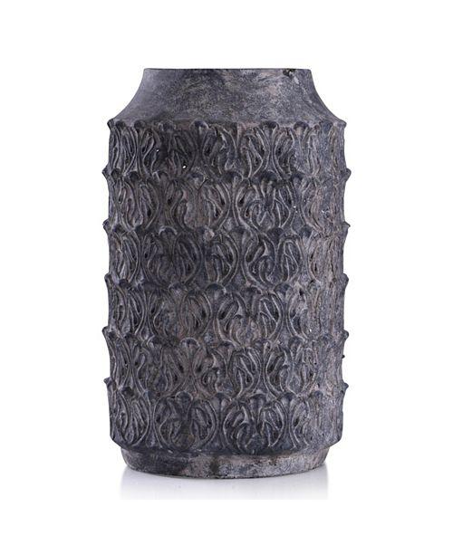 StyleCraft Binani Charcoal Decorative Concrete Vase