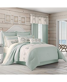 Royal Court Water's Edge Aqua King 4pc. Comforter Set