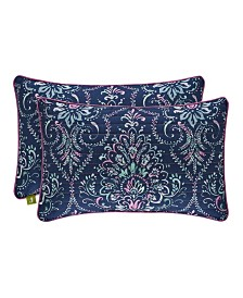 J by J Queen Kayani Quilted Boudoir Decorative Throw Pillow