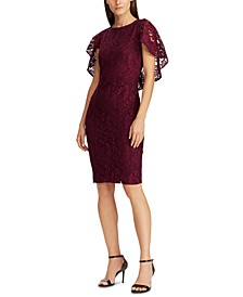Cape-Overlay Lace Dress, Created For Macy's