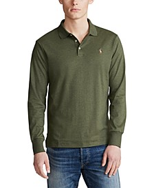 Men's Long Sleeve Soft-Touch Polo Shirt