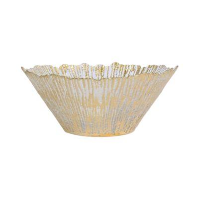 Rufolo Glass Gold Large Deep Bowl
