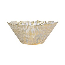 Rufolo Glass Gold Large Deep Bowl
