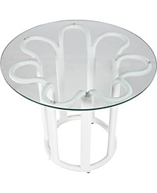 Calla Outdoor Side Table with Tempered Glass