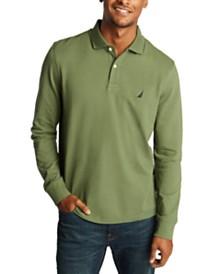 Nautica Men's Long Sleeve Logo Polo Shirt