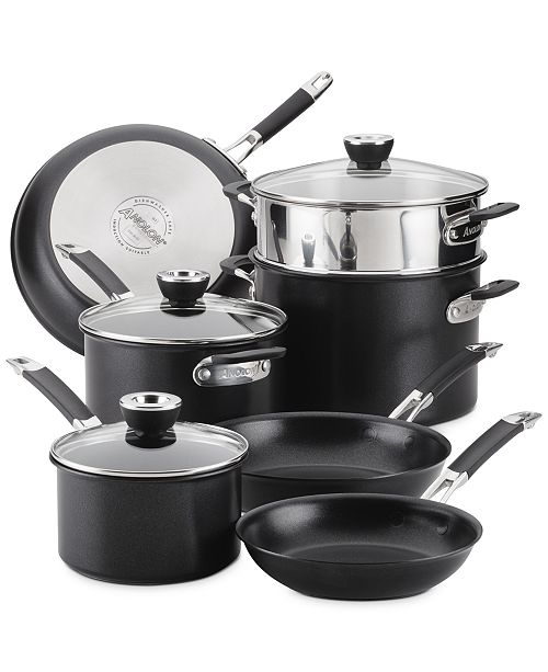 Anolon SmartStack 10-Pc. Hard-Anodized Nesting Cookware Set