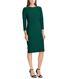 Lauren Ralph Lauren Snapped-Shoulder Jersey Dress