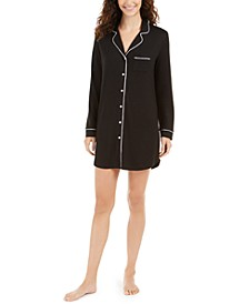 Cozy Knit Button-Front Sleep Shirt, Created For Macy's