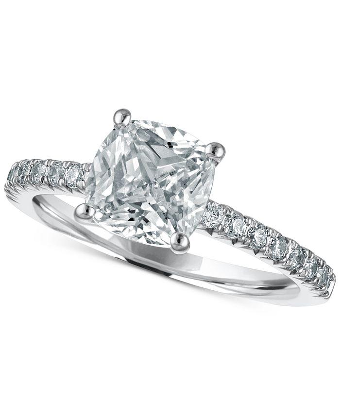 Macy's Star Signature Diamond - Diamond Engagement Ring (2-1/4 ct. t.w.) in 14k White Gold