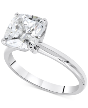 Limited Edition Macy's Star Signature Diamond Cushion-Cut Solitaire Engagement Ring (2 ct. t.w.) in 14k White Gold