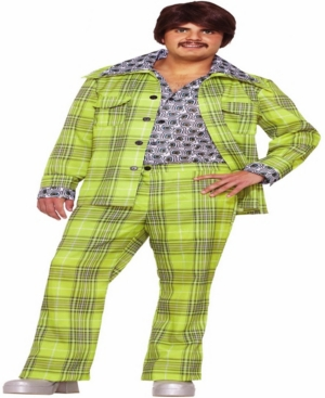 Buy Seasons Men's 70's Plaid Leisure Suit Costume