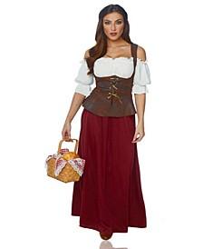 Buy Seasons Women's Peasant Lady Costume