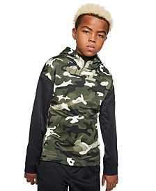 Nike Big Boys Therma Camo-Print Hoodie