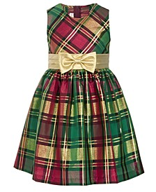Little Girls Plaid Bow Dress