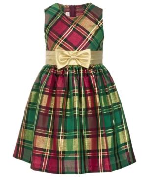 60s 70s Kids Costumes & Clothing Girls & Boys Bonnie Jean Toddler Girls Plaid Bow Dress $37.00 AT vintagedancer.com
