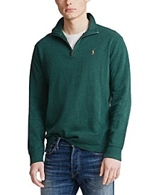 Men's Estate-Rib Quarter-Zip Pullover, Created for Macy's