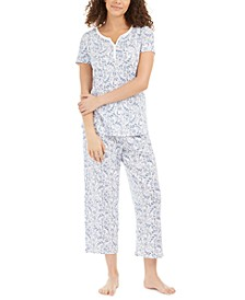 Capri Pant Cotton Pajama Set, Created For Macy's