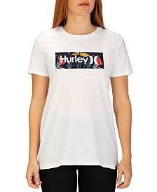 Hurley Cotton One And Only Domino Logo Graphic T-Shirt