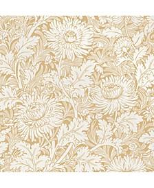 "20.5"" x 396"" Zinnia Floral Wallpaper"