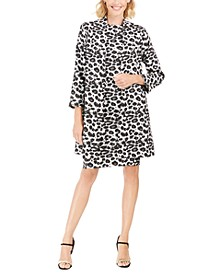 Snow Leopard Sheath Dress