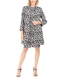 N Natori Snow Leopard Sheath Dress