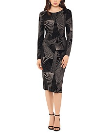 Betsy & Adam Geometric-Pattern Dress