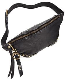 Odessa Studded Washed Leather Belt Bag