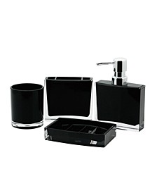 Modern 4-Pc. Acrylic Bath Accessory Combo