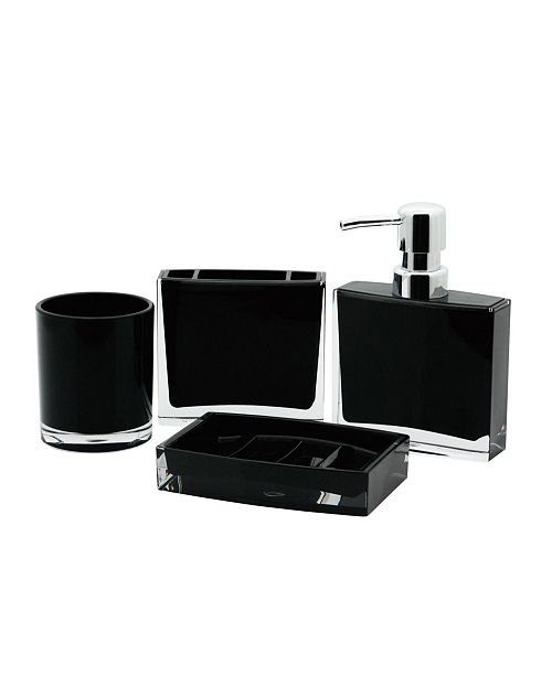 Kingston Brass Modern 4-Pc. Acrylic Bath Accessory Combo