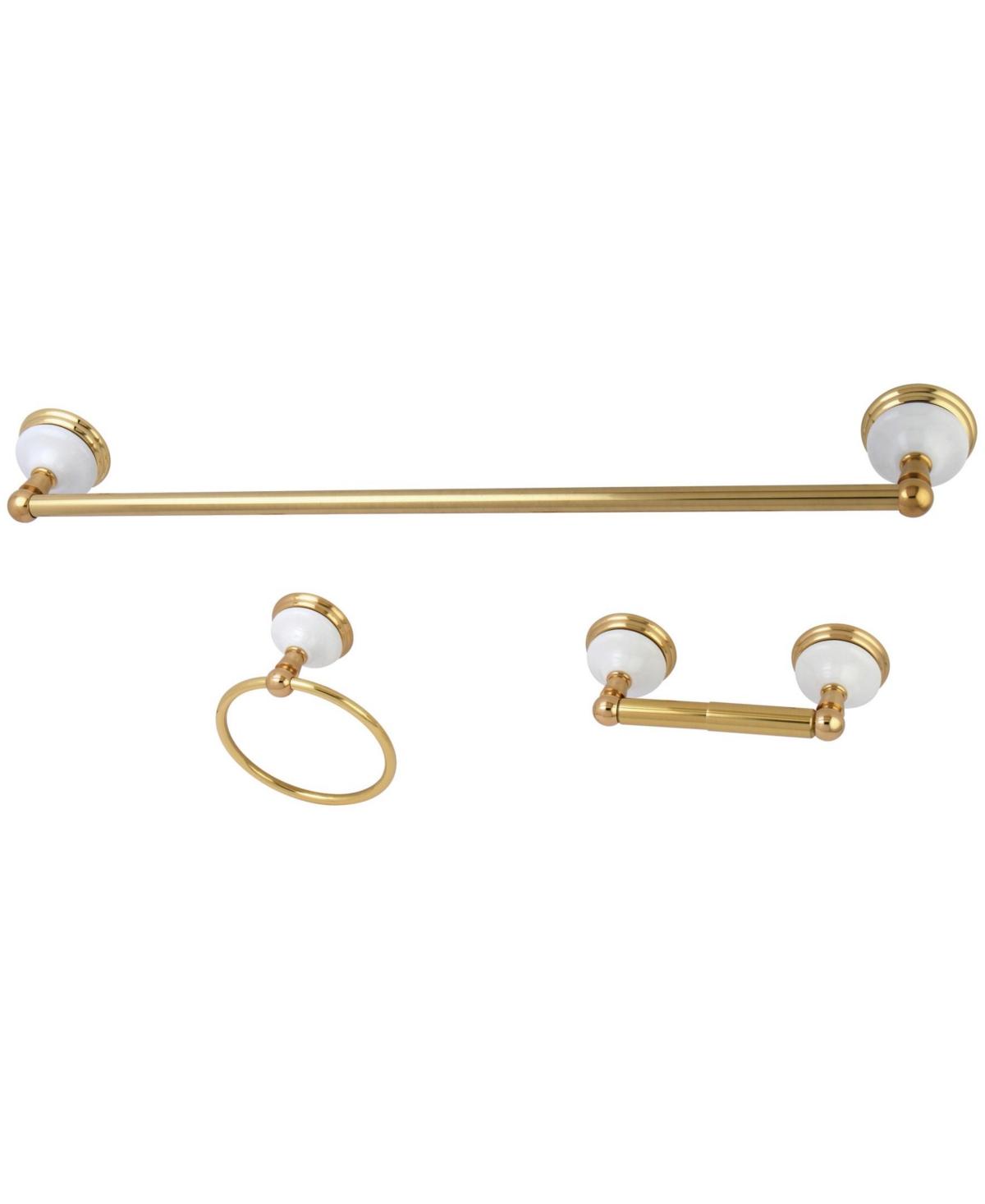 Kingston Brass Victorian 3-Pc. Towel Bar Bathroom Hardware Set Bedding