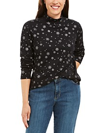Snowy Glory Mock-Neck Top, Created For Macy's